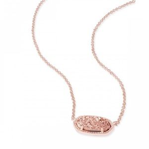 ✨New Kendra Scott Rose Gold Drusy Necklace✨